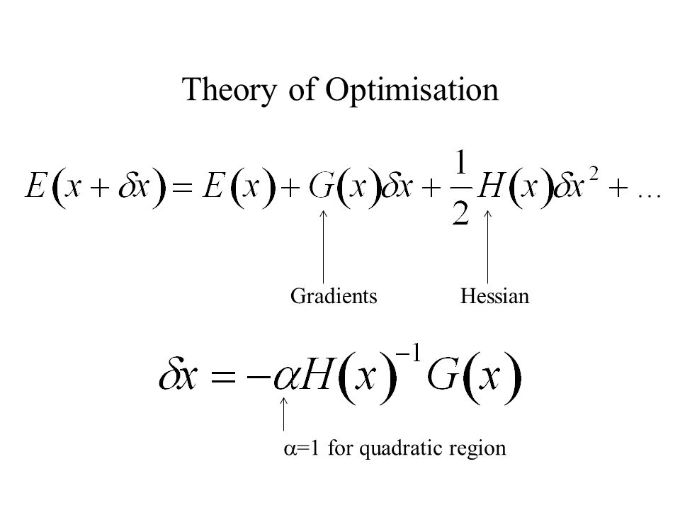 Theory of Optimisation