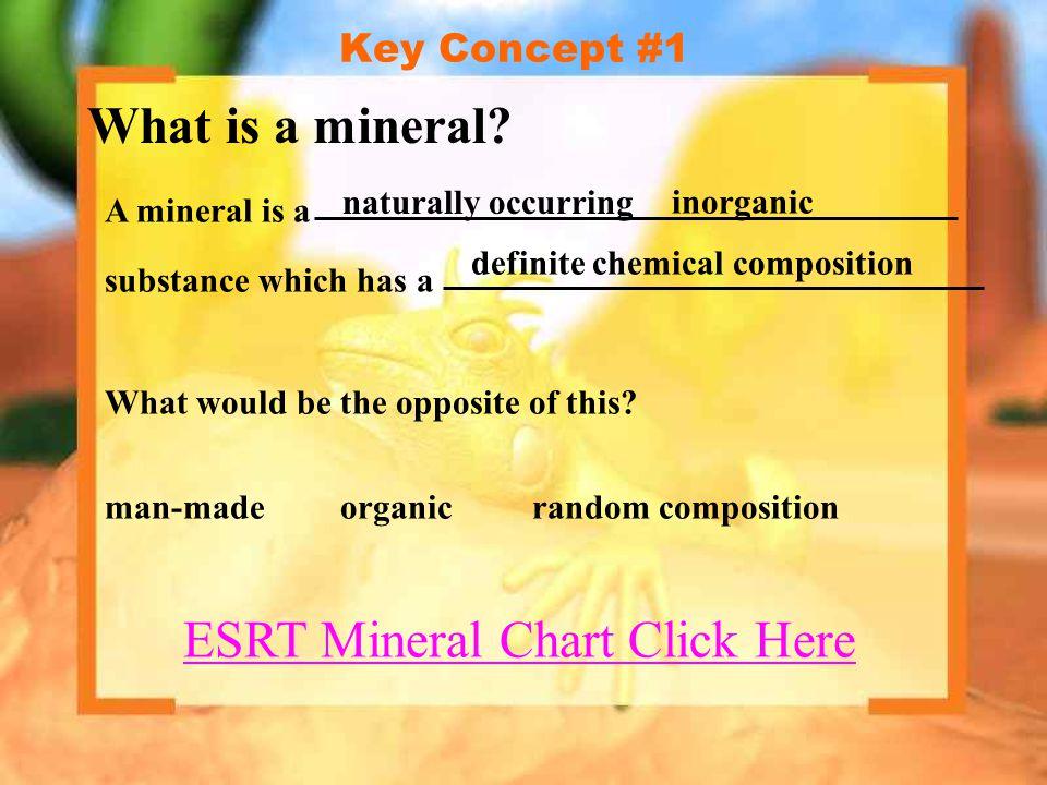 ESRT Mineral Chart Click Here