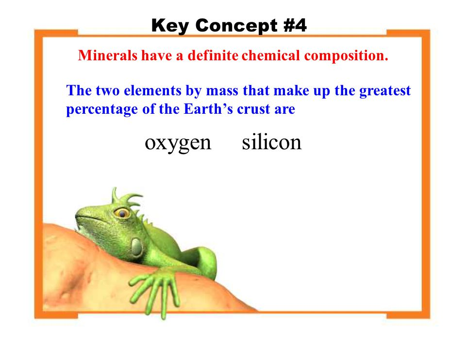 oxygen silicon Key Concept #4