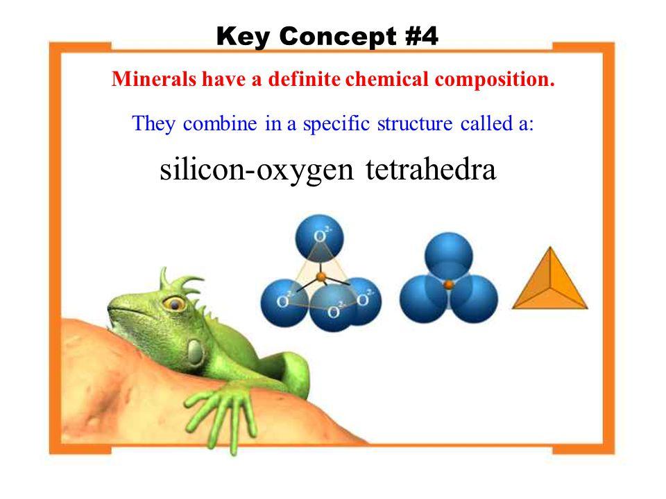 silicon-oxygen tetrahedra