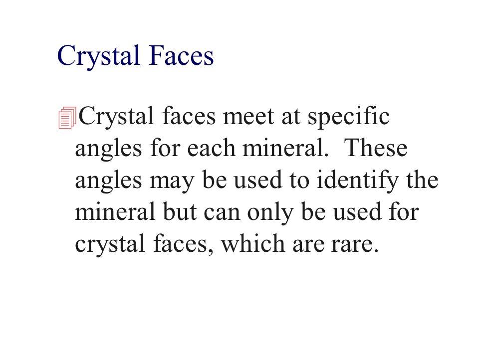 Crystal Faces