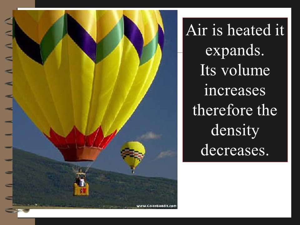 Air is heated it expands.