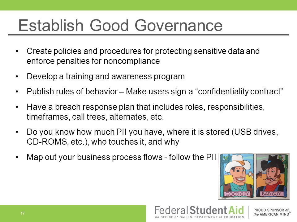 Establish Good Governance