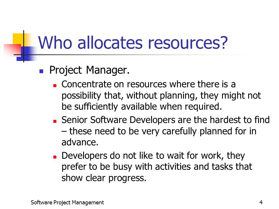 Who allocates resources