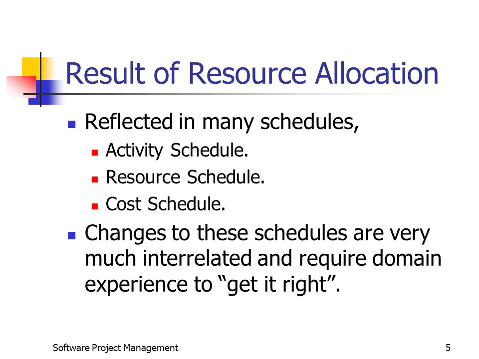 Result of Resource Allocation