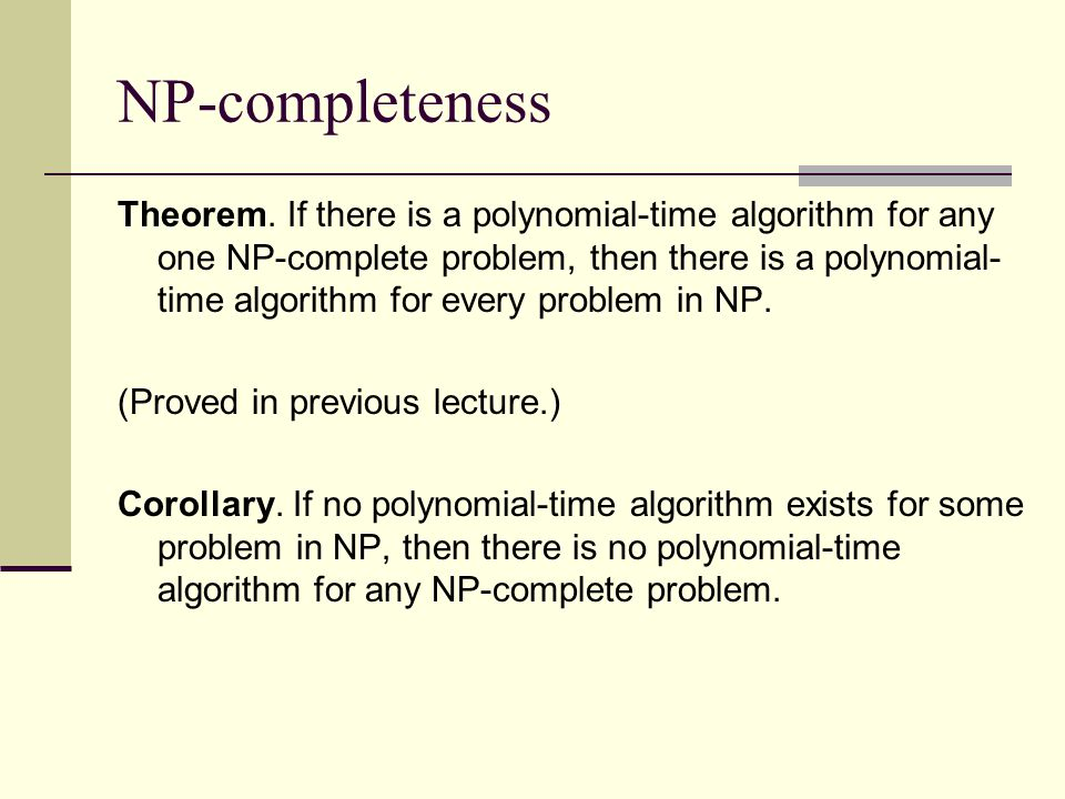 Talk at U of Maryland NP-completeness.