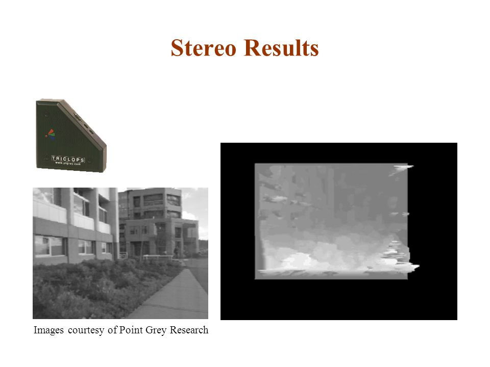 Stereo Results Images courtesy of Point Grey Research