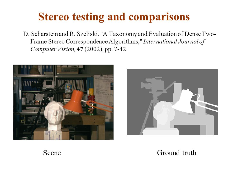 Stereo testing and comparisons
