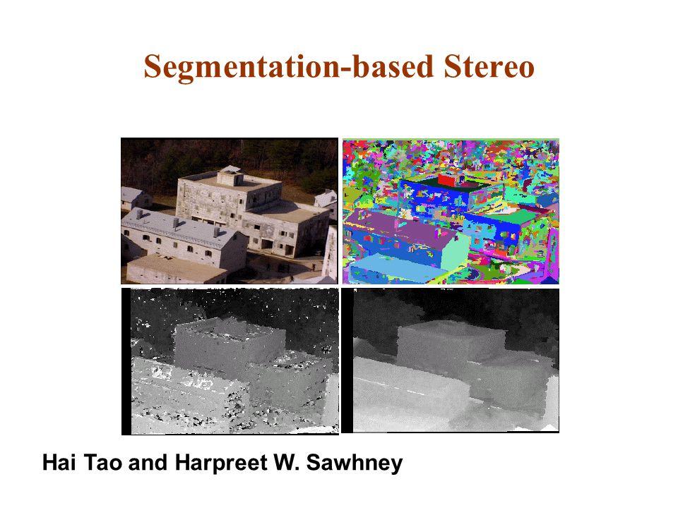 Segmentation-based Stereo