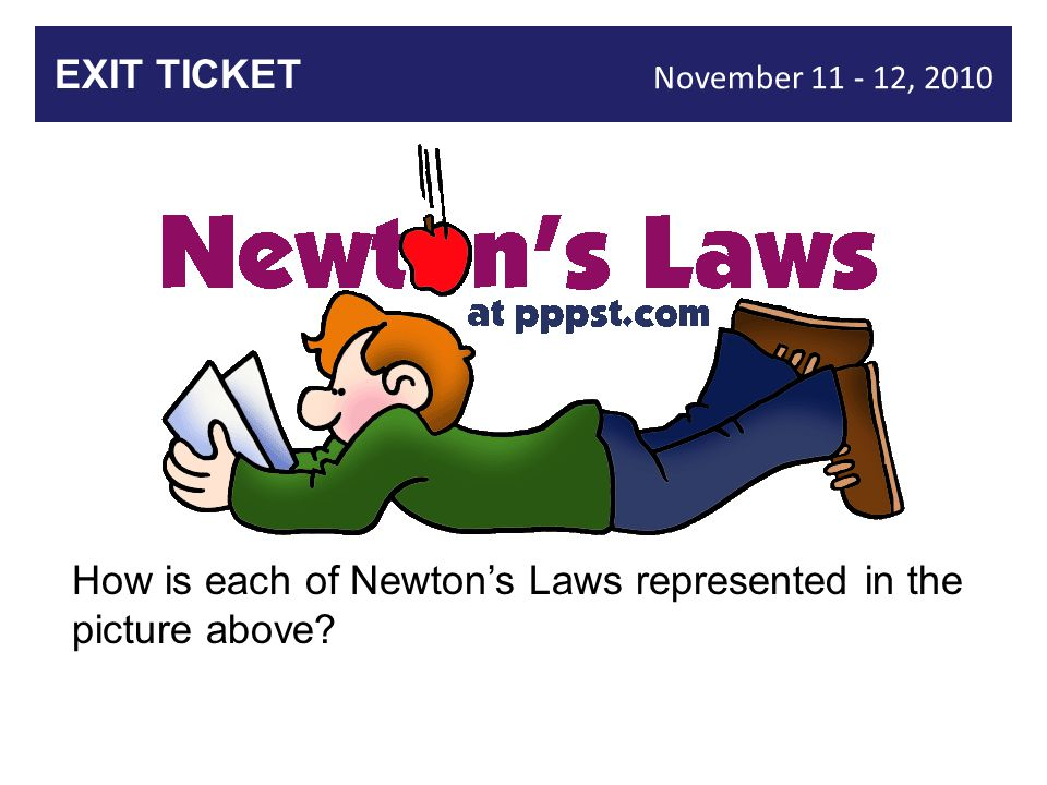 How is each of Newton's Laws represented in the picture above