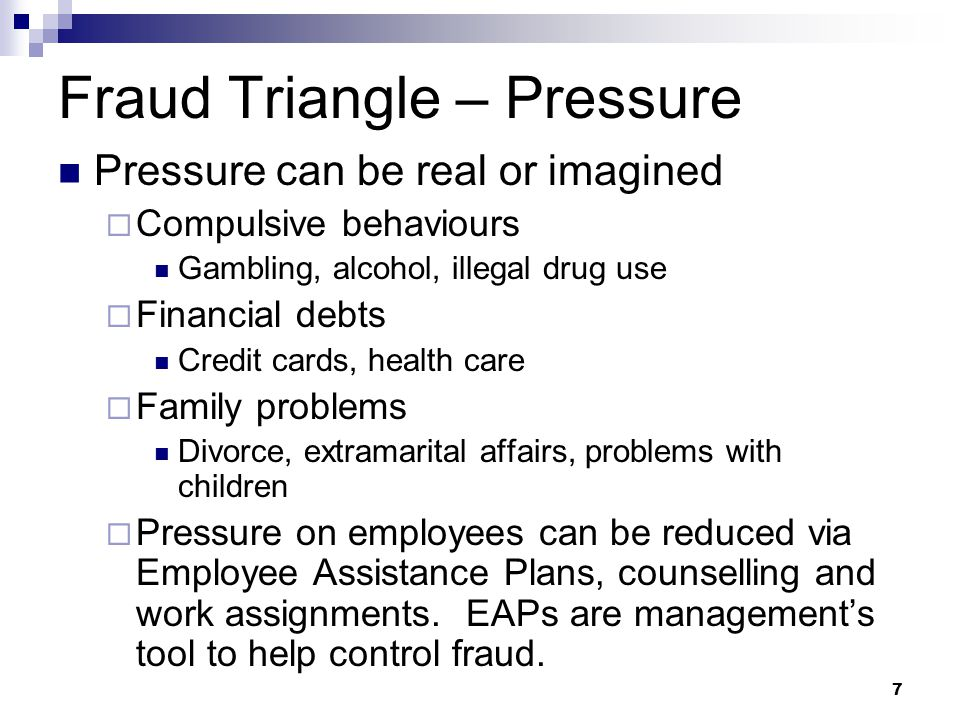 Fraud Triangle – Pressure