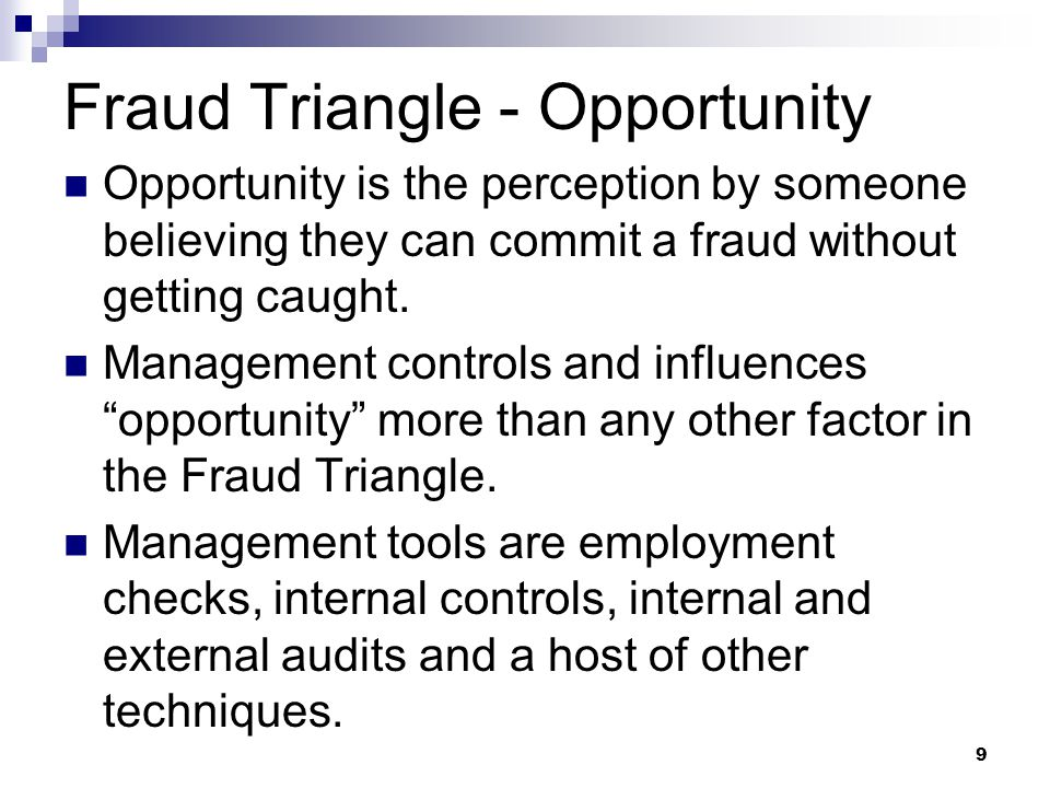Fraud Triangle - Opportunity
