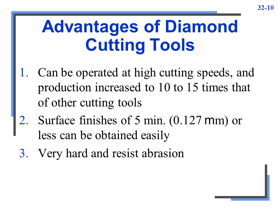Advantages of Diamond Cutting Tools