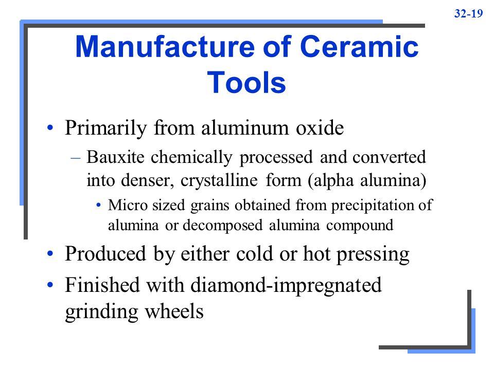 Manufacture of Ceramic Tools