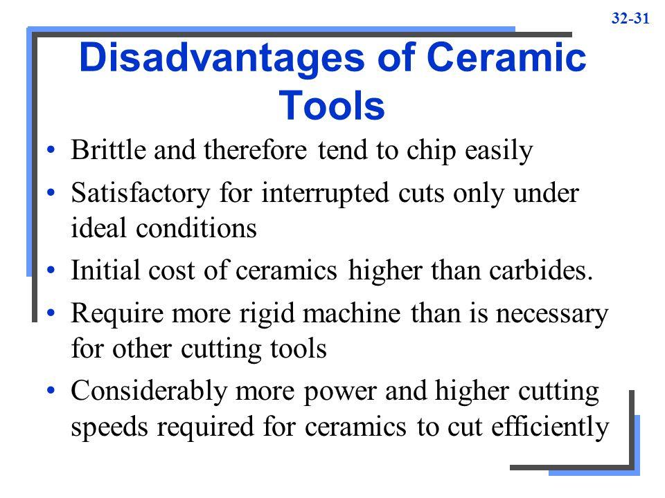 Disadvantages of Ceramic Tools