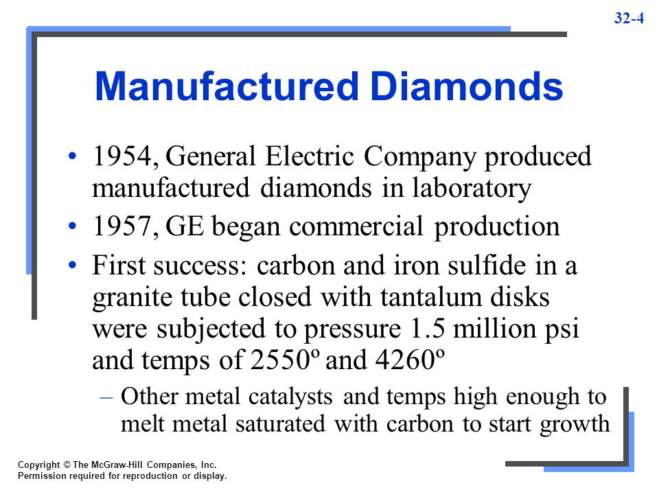 Manufactured Diamonds