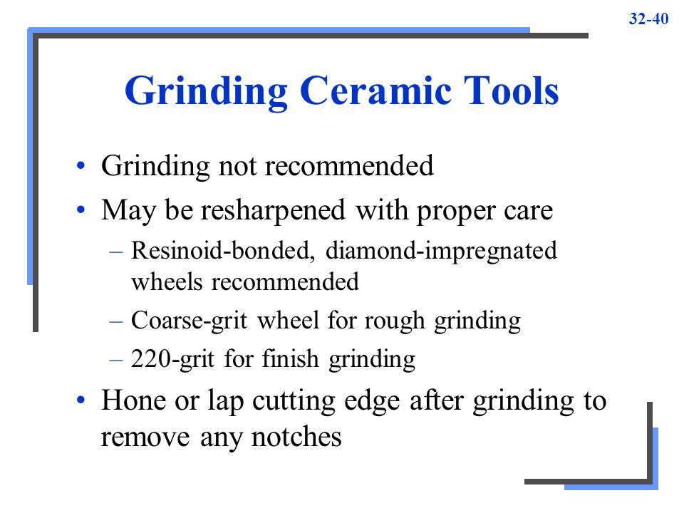 Grinding Ceramic Tools