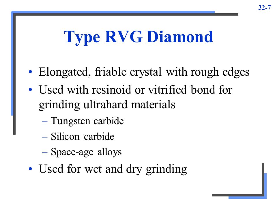 Type RVG Diamond Elongated, friable crystal with rough edges