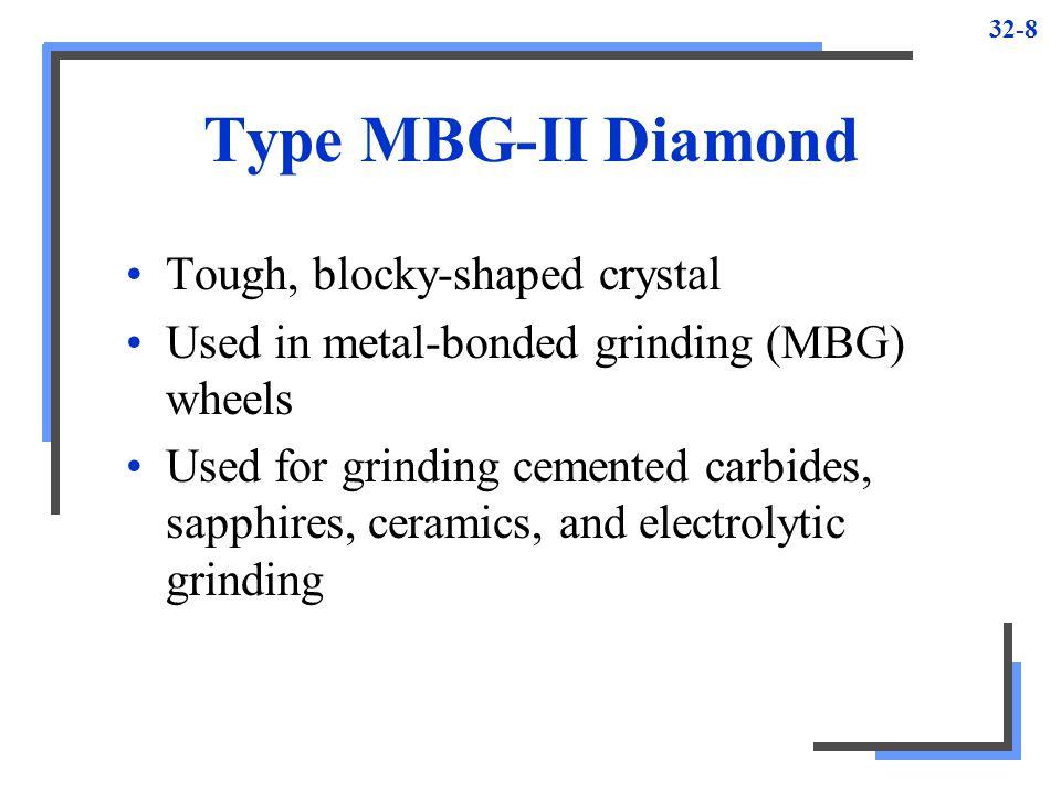 Type MBG-II Diamond Tough, blocky-shaped crystal