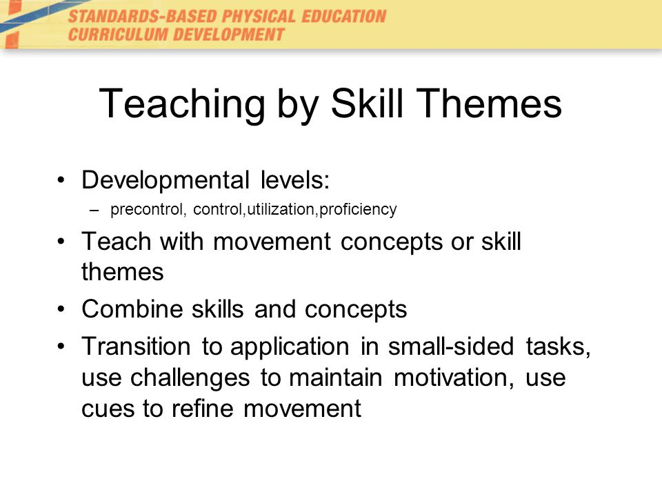 Teaching by Skill Themes