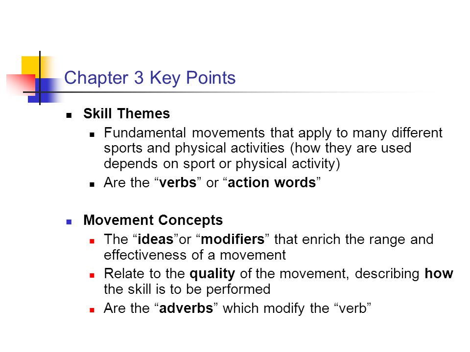 Chapter 3 Key Points Skill Themes