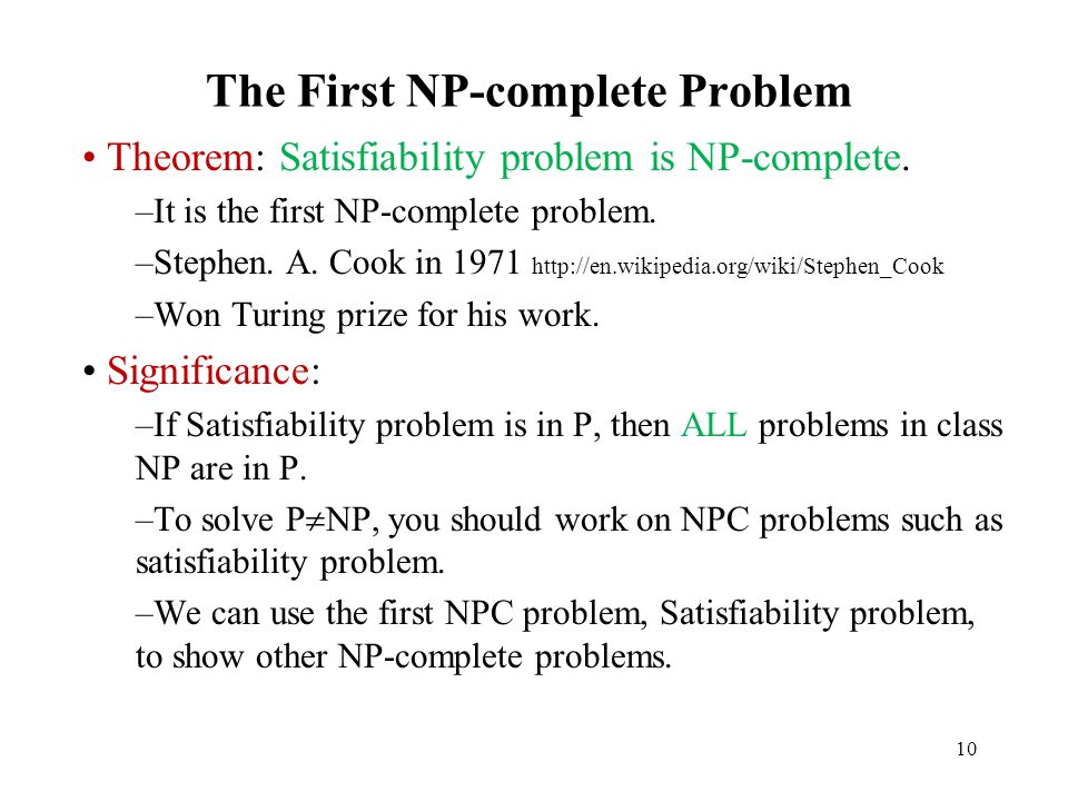 The First NP-complete Problem
