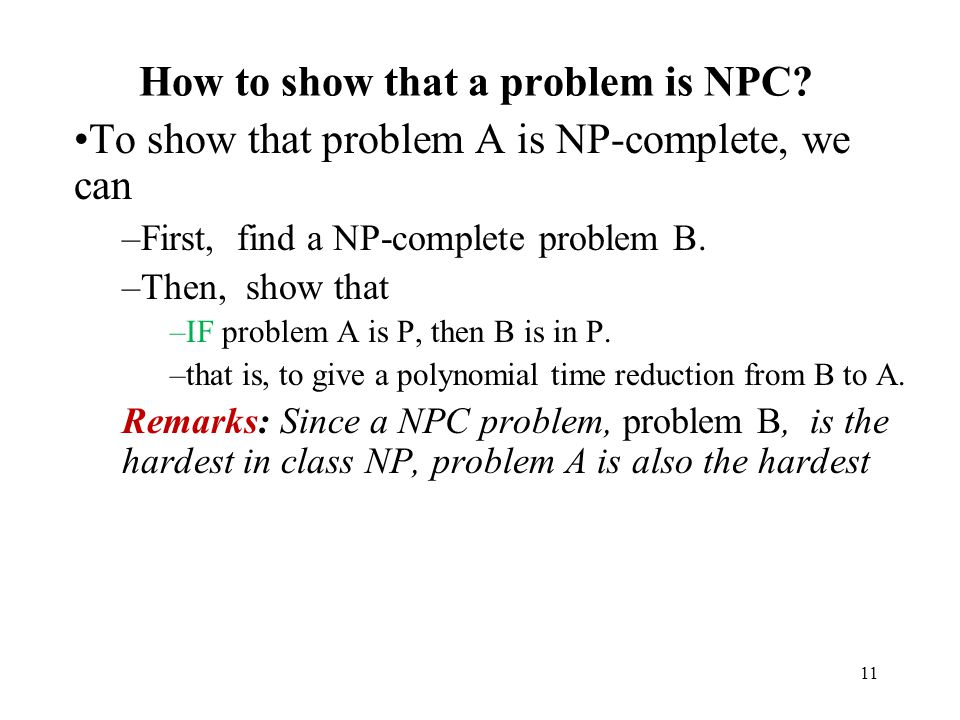 How to show that a problem is NPC