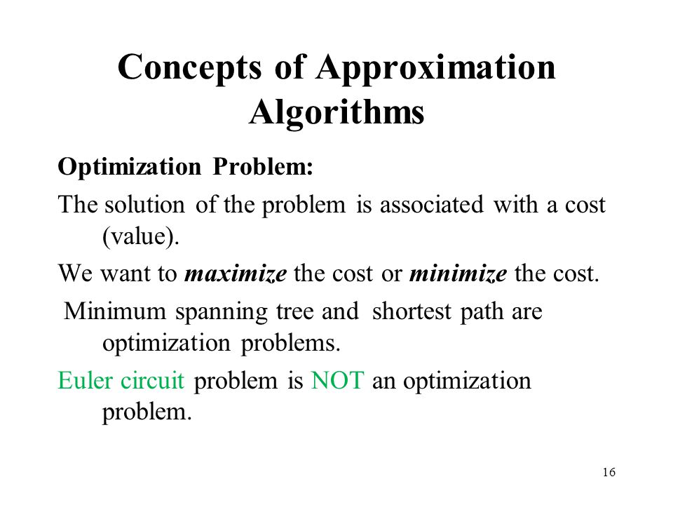 Concepts of Approximation Algorithms