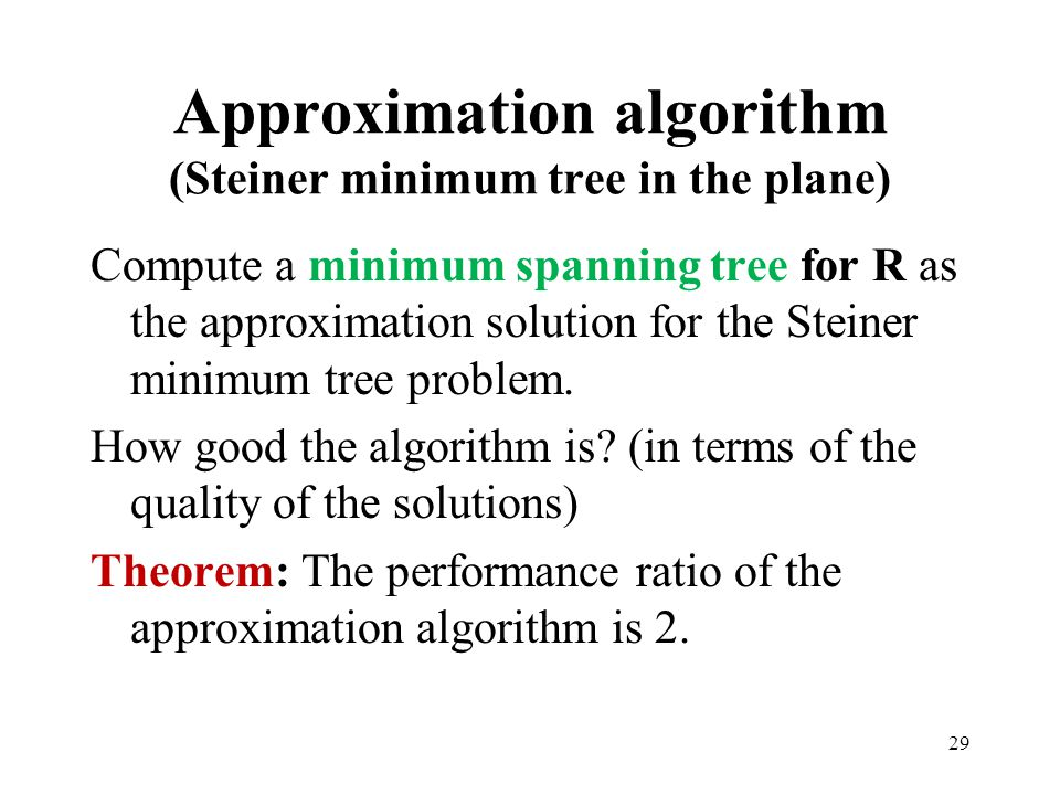 Approximation algorithm (Steiner minimum tree in the plane)