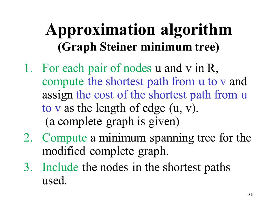 Approximation algorithm (Graph Steiner minimum tree)