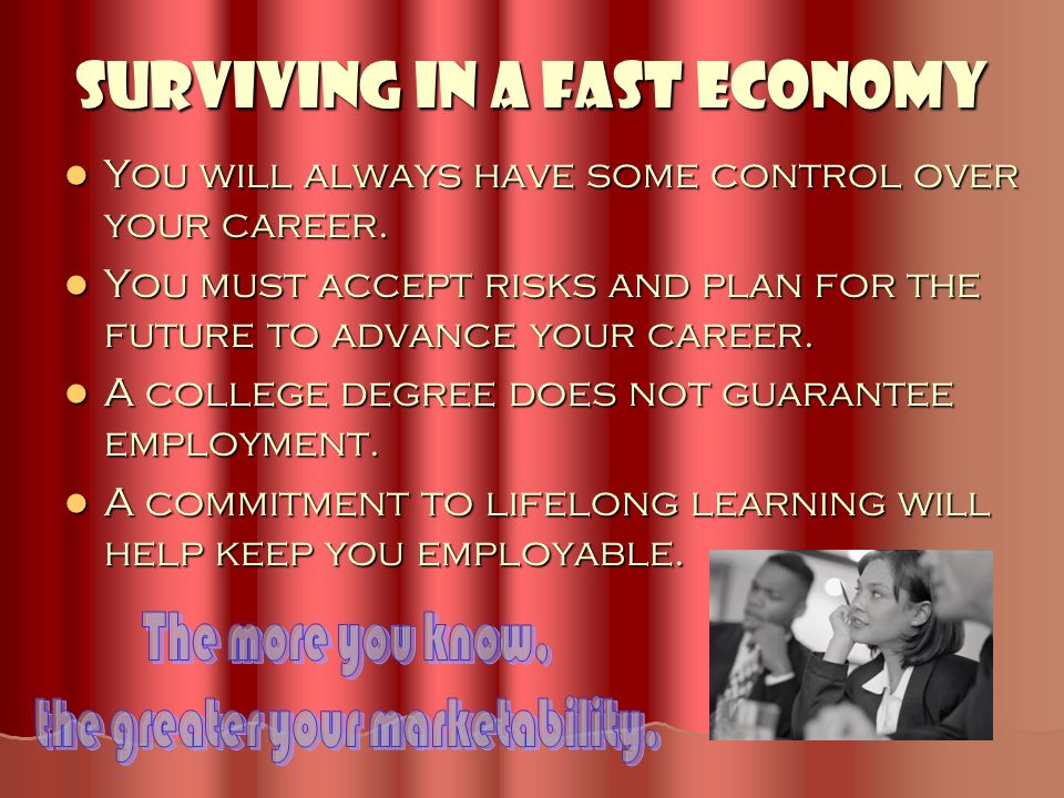 Surviving in a Fast Economy