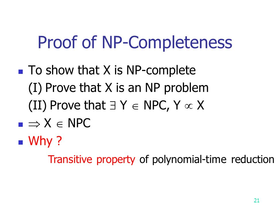 Proof of NP-Completeness