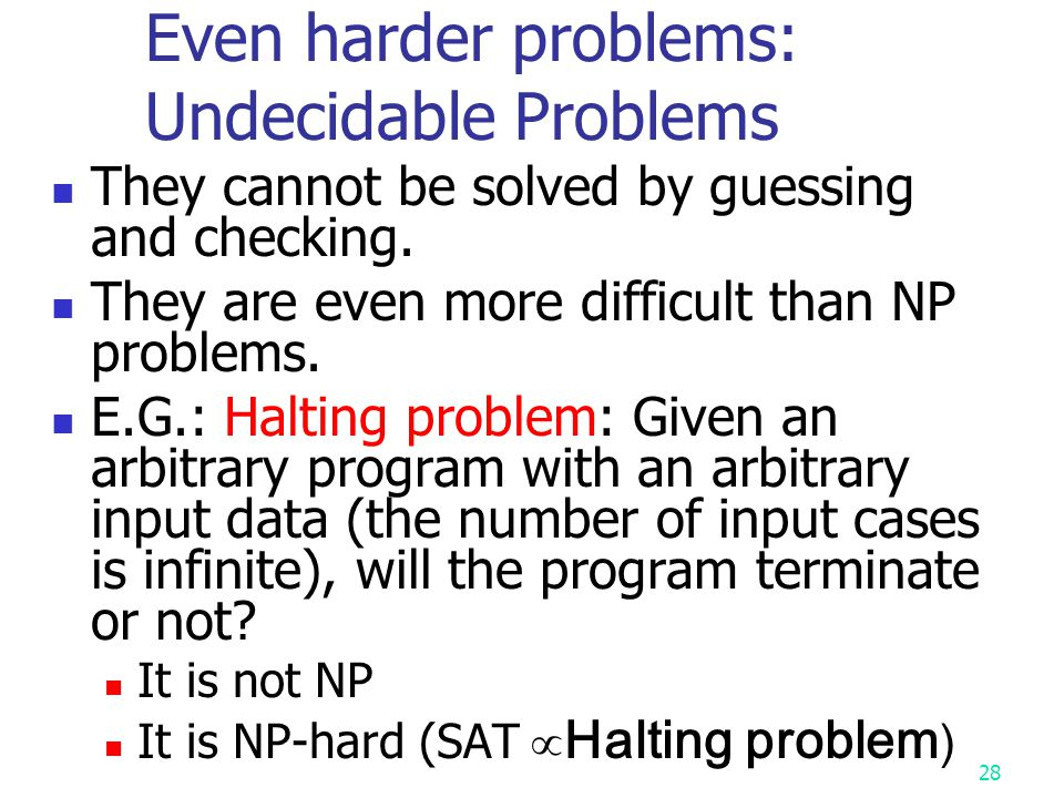 Even harder problems: Undecidable Problems