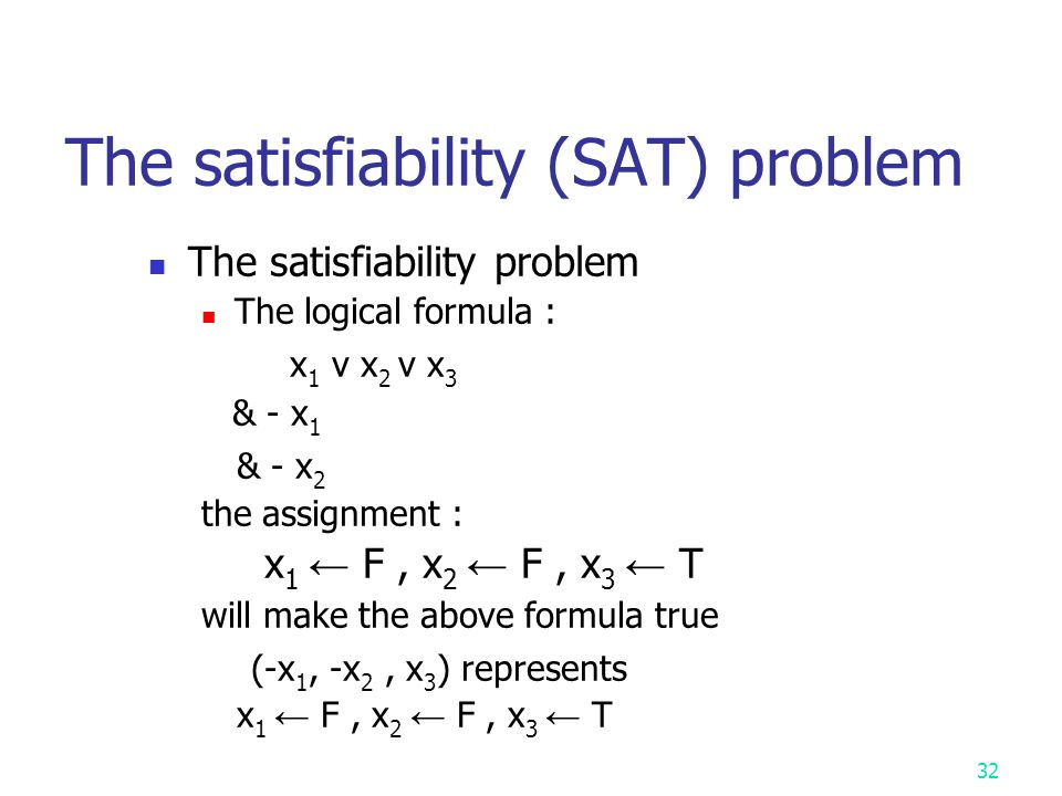 The satisfiability (SAT) problem