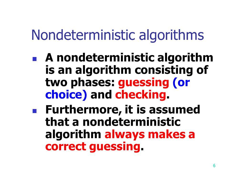 Nondeterministic algorithms