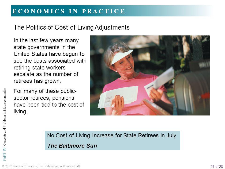 The Politics of Cost-of-Living Adjustments