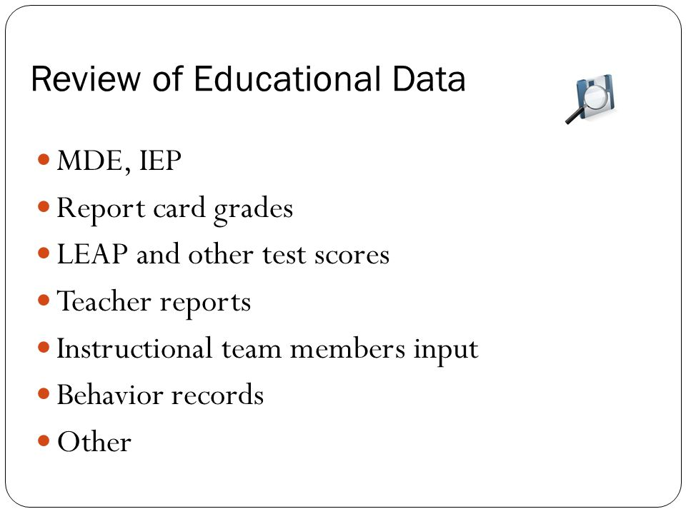 Review of Educational Data