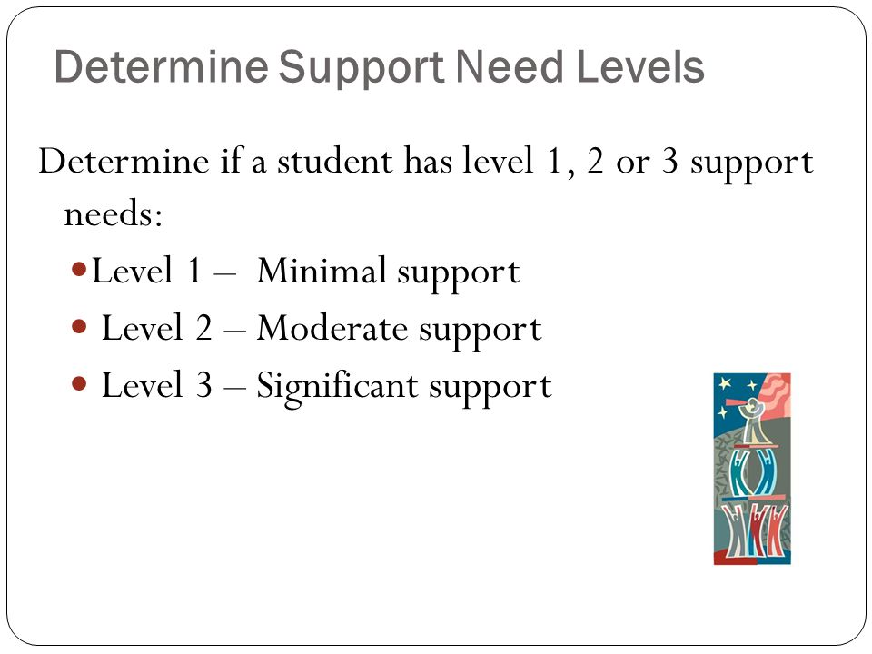 Determine Support Need Levels