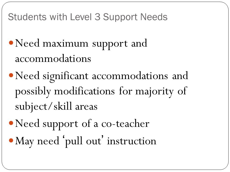 Students with Level 3 Support Needs