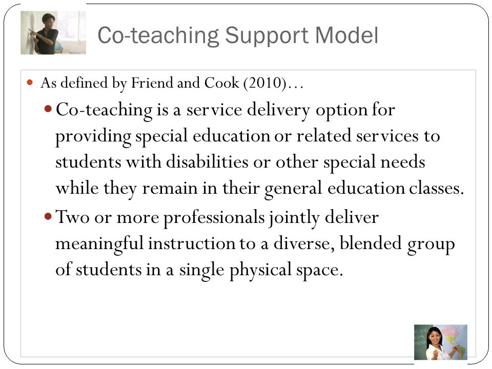 Co-teaching Support Model