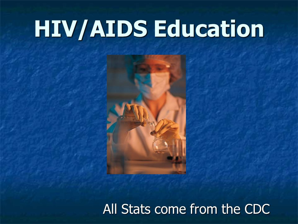 All Stats come from the CDC