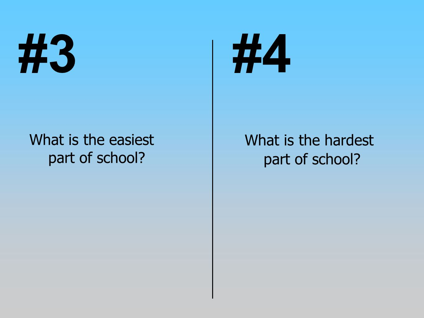 #3 #4 What is the hardest part of school