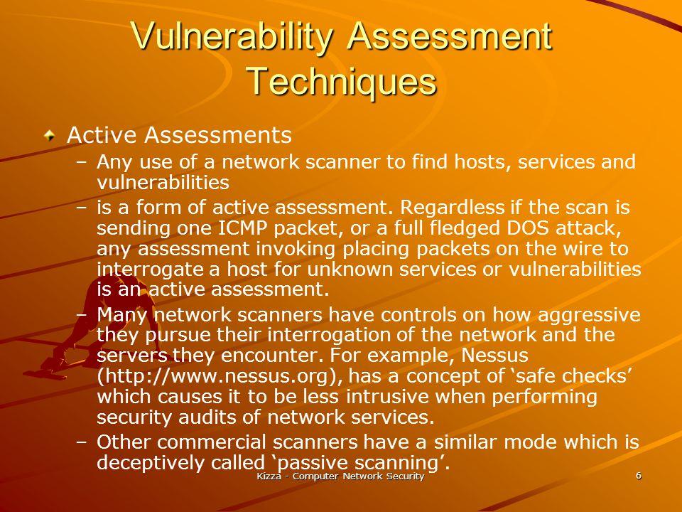 Vulnerability Assessment Techniques