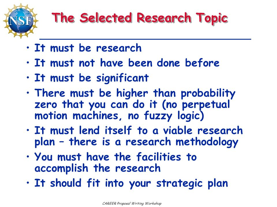 The Selected Research Topic