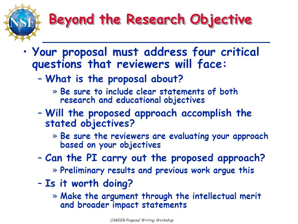 Beyond the Research Objective