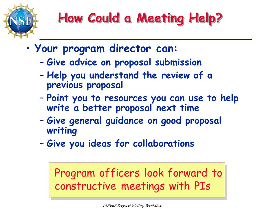 How Could a Meeting Help