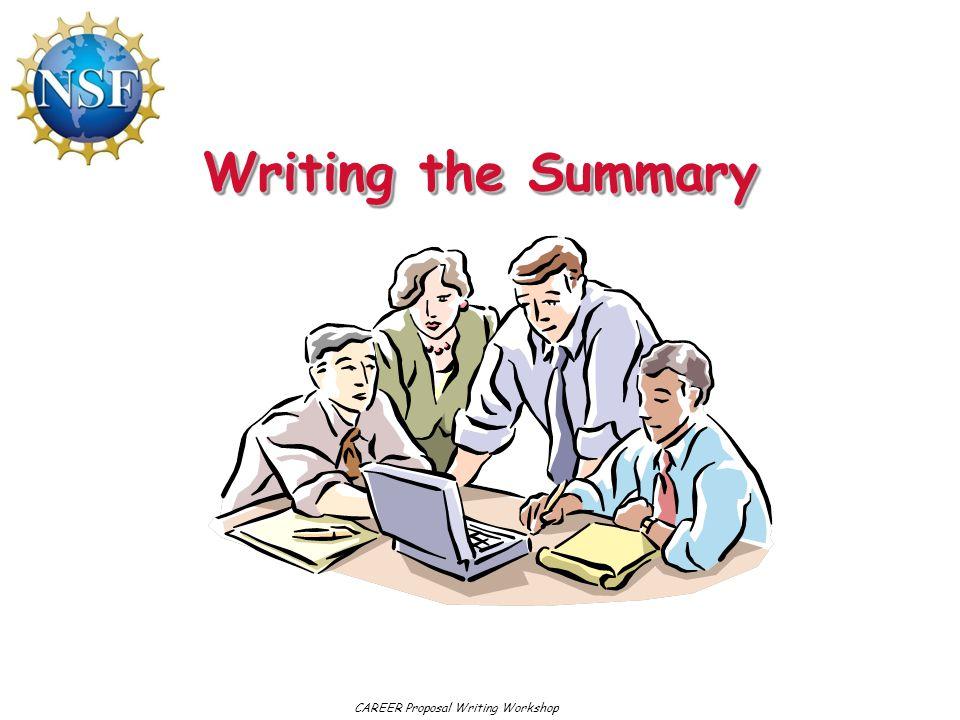 CAREER Proposal Writing Workshop