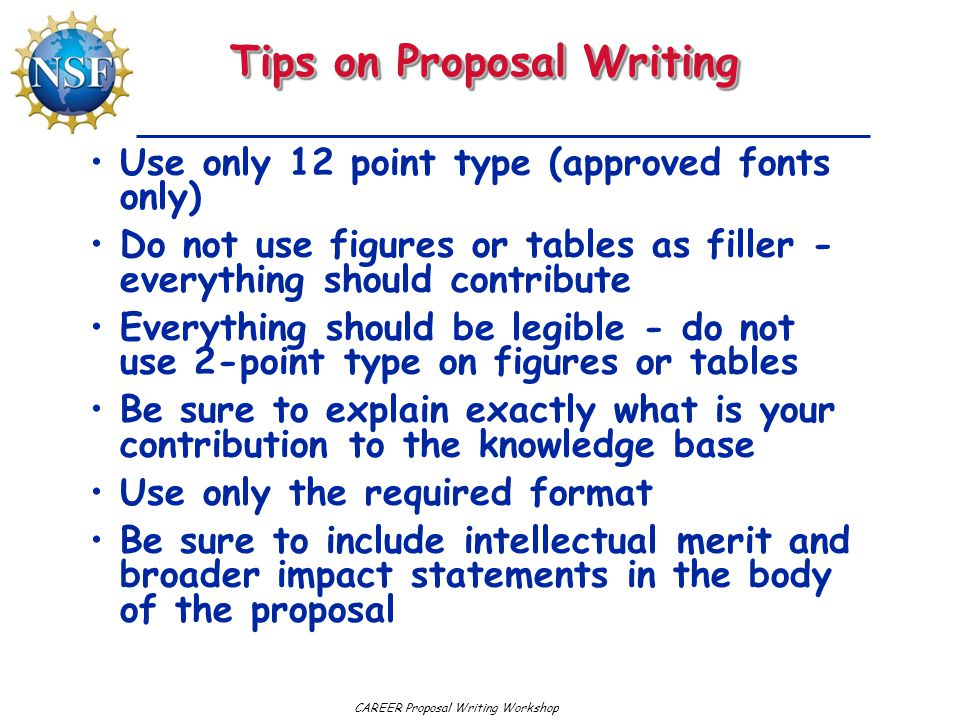Tips on Proposal Writing