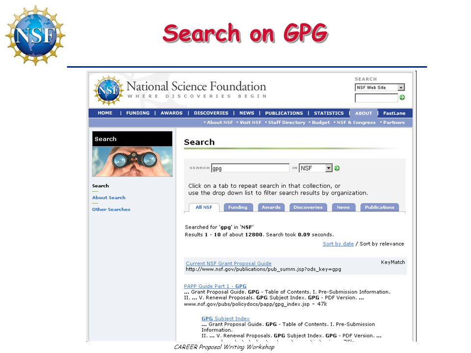 Search on GPG
