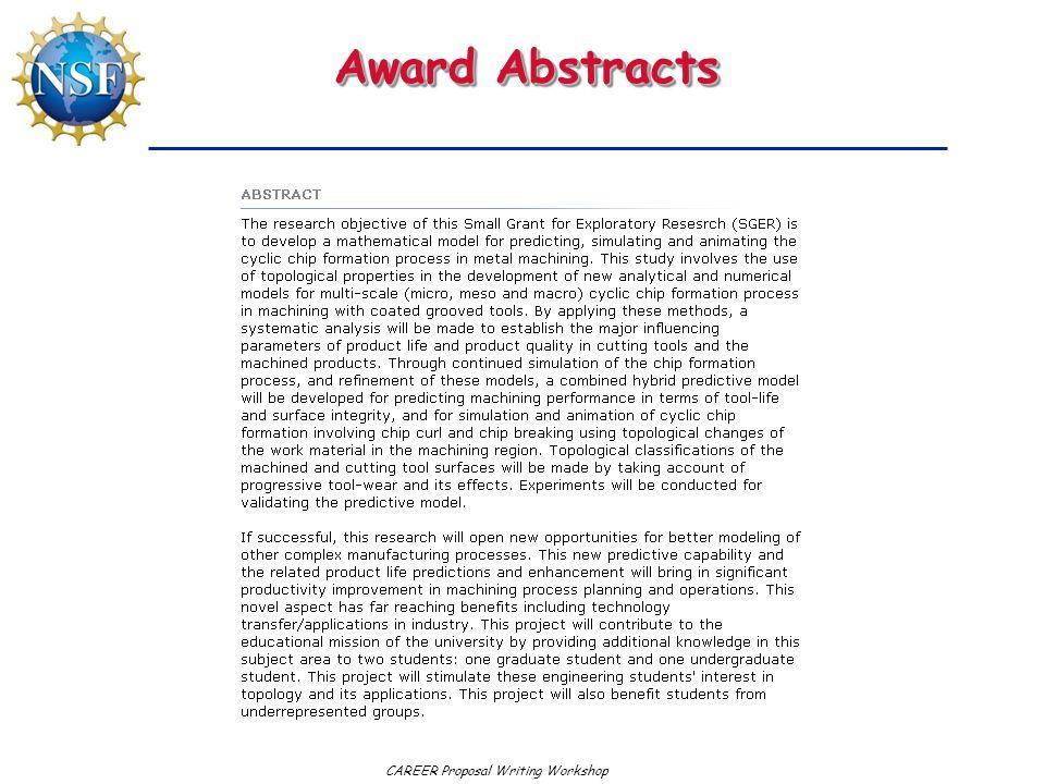 Award Abstracts